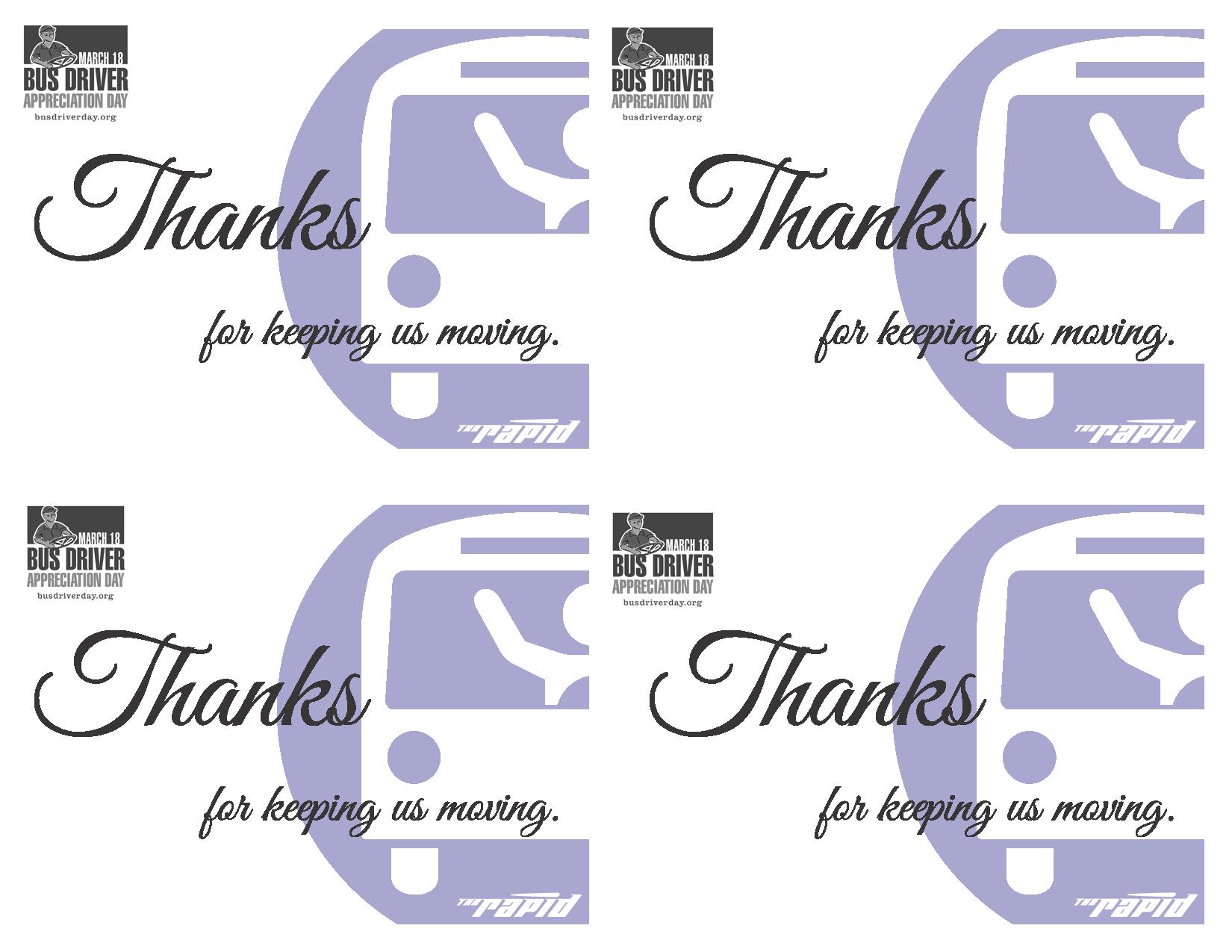 bus driver appreciation day is march 16 2018