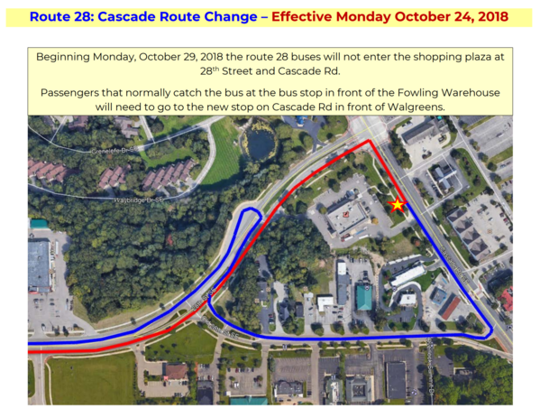 Route 28 Change 2018