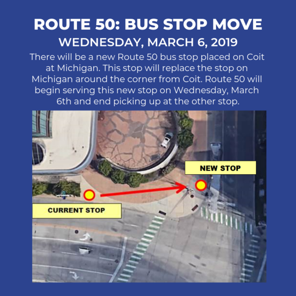 Route 50 Bus Stop Move
