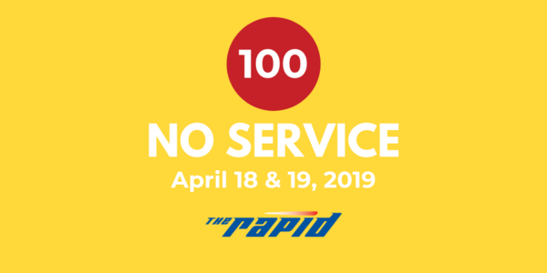 No Service Route 100 April 2019