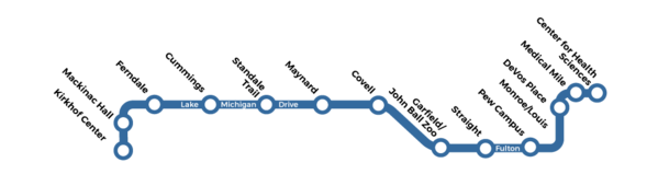 Laker Line - Route Map
