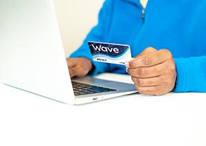 Wave Card at Laptop