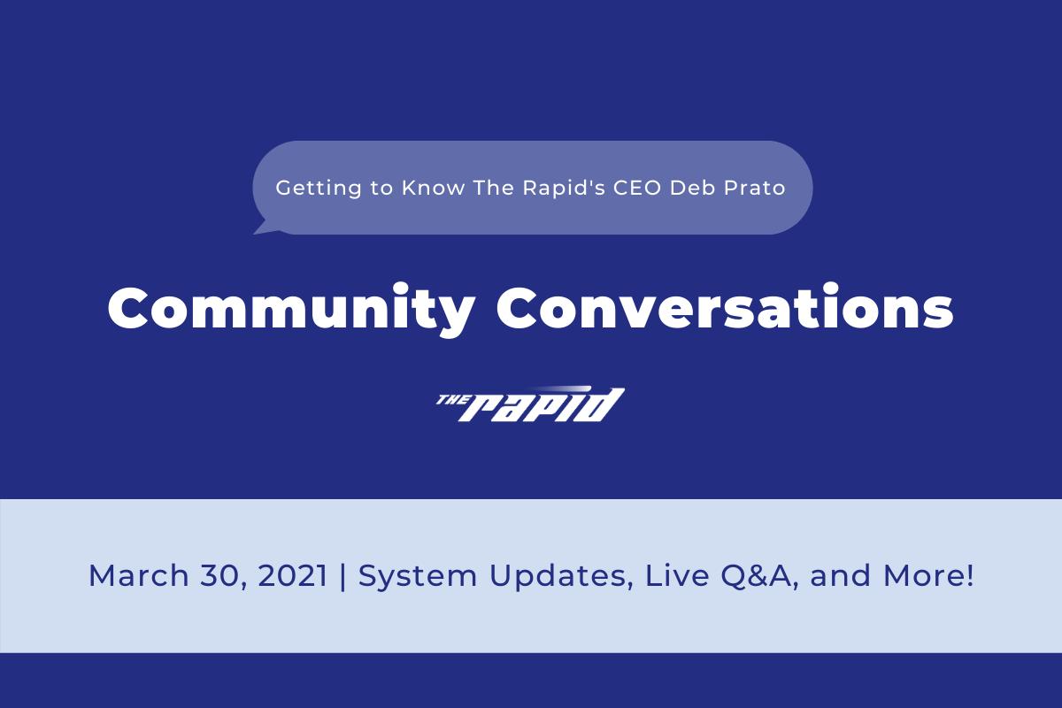 Community Conversations - Deb Prato Live Banner