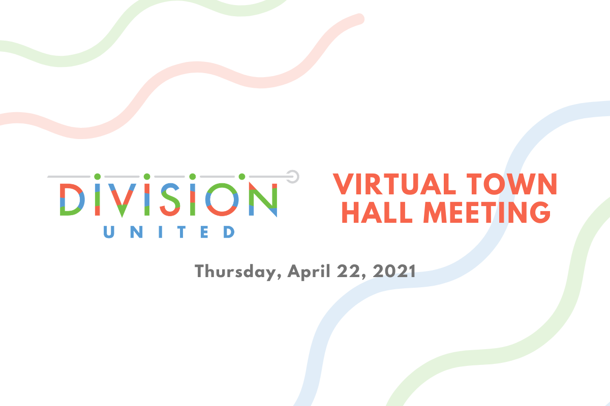 Division United - Virtual Town Hall Banner