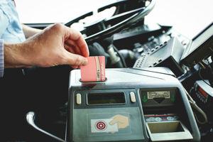 Ticket at the farebox
